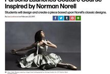 """As reported by @wwd -@parsonsschoolofdesign launches """"NORELL x PARSONS"""" couture course inspired by #NormanNorell  [see link in bio ☝️]"""