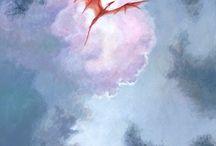 watercolor dragons