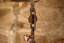 steampunk and industrial lamps / steampunk lampen
