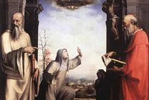 Доменико Беккафуми (Domenico Beccafumi), 1484-1551, сиенская школа, маньеризм. / Посещение Рима и Флоренции оказало огромное влияние на Беккафуми, который, будучи еще достаточно молодым человеком, проникся творчеством Рафаэля и Микеланджело. По возвращении в Сиену художник развил собственный стиль, характеризующийся драматическим контрастом между мрачными, сумеречными тенями и яркими красками и световыми эффектами.