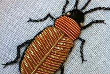Embroidery insects