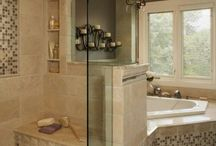 Bathroom Ideas / showers, bath tubs, sinks, cabinets and floors for bathroom remodels.