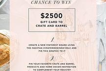 Crate and Barrel #crateweddingx100lc / #CRATEWEDDINGx100LC