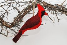 red cardinal christmas decoration