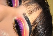 Colourful eyeshadow