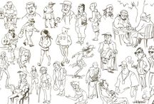 Art on the Go - People Sketches and Characters You Meet / by Wanderlust Designer