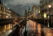 Eső - ploaie - rain