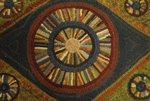 Geometrics / Patterns, designs that could be incorporated into a hooked rug as well as examples of geometric hooked rugs.