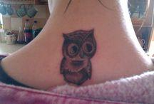 owl tattoo's