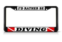 """I'd Rather Be"" License Plate Frames / If you want to tell something to other drivers in the traffic ""I'd Rather Be"" Frames are perfect for that."