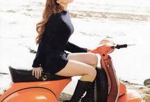 バイク&美女