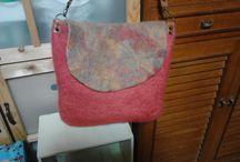 羊毛フェルト felted wool bag and purse / felted wool