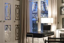 Interiors - Paris Residence / Traditional city apartment with a breathtaking view of the Eiffel Tower.