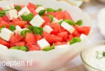 Meloen feta salade