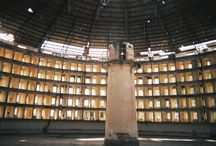 Panopticon / Images of buildings/spaces expressing ideas of Panopticon (ref. Michel Foucault)