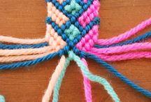 Macrame / Macrame works, kumihimo braids, friendship bracelets, knot, loom