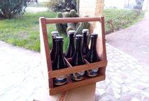 Wooden Beer Tote, Beer Caddy, Beer Carrier, Handmade Beer Tote, Six Pack Carrier