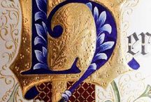 Calligraphy, letter, medieval