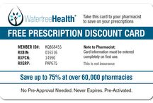 Rx Savings Card / Present this pre-activated card to your pharmacist and start saving up to 75% on all brand name and generic medications at over 60,000 pharmacies.