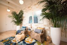 TROPICAL theme furnishings / natural fibers, casual, vacation at home