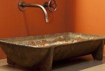 Industrial designed bathrooms