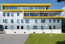 Leitner Electro Brunico (BZ) / facciata continua, serrmaneti in alluminio e rivestimenti