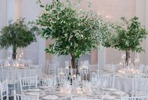 Trees as Wedding Centrepieces / Inspiration for wedding centrepieces using real or bespoke tree's - bringing the outdoors, indoors!