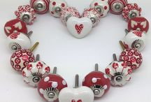 Love Hearts / Original designs and stunning handpainted ceramic doorknobs and hooks at www.theseplease.co.uk