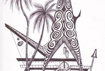 Pen and ink / pen and ink works on paper #sophistatiki,#tikimodern,Dawn Frasier