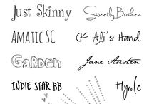 Fonts / by Clare Hillman