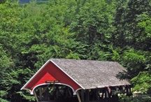 Covered Bridges / I love, love, love the old school picturesque beauty of covered bridges.