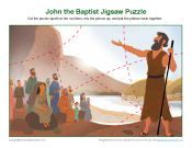 John the Baptist Bible Activities / God had a special plan for John the Baptist. John would help prepare Israel for the Messiah's coming by encouraging people to repent and to live holy lives. He also would identify the Messiah. These Bible activities for children are related to John the Baptist and will help kids learn about how God prepared His people for the coming of the Messiah, Jesus.