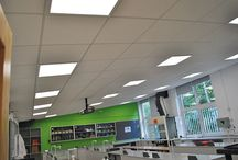 Eccles College, Manchester / The science, maths and IT suites have been fully refurbished with new low energy fluorescent lighting, Category 6 data cabling, a new power infrastructure and fire alarm system modifications.