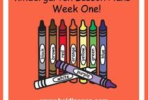 Kindergarten first week
