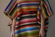 Ponchos in crochet style