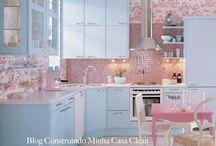 Cozinhas Vintage! / Veja + Inspirações e Dicas de decoração no blog!  www.construindominhacasaclean.com