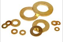 Brass Washers / We offer different types of Brass Washers , Copper Washers including different sizes and shapes such as flat, conical, wave, C, cupped, ground, spring etc.