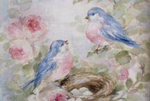 uccellini dipinti