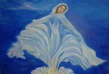 Alkotásaim/festmények / Festményeimet akrillal vagy olajjal feszített vászonra festem.