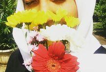 flowers hijab