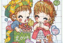 haft krzyzykowy dzieci i młodzierz