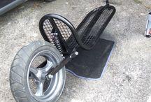 monowheel adventure motorcycle trailer