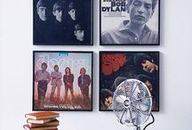 Vinyl on wall