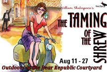 The Taming of the Shrew / Aug 11-27, 2016, performed outdoors at the Bear Republic Courtyard Healdsburg. Shakespeare's classic battle of the sexes set in 1950s Italy. A Raven Players production.  www.raventheater.org