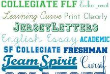 Fonts that I love