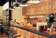 Cafe design  / Cafe exteriors, interiors and decor  / by Carina Mystek