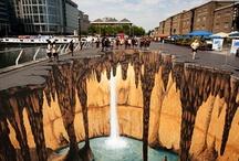 Pavement Art / 3D illusions