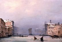Venetian paintings: Caffi / Ippolito Caffi (1809–1866) was an Italian painter of architectural subjects and seascapes or urban vedute.