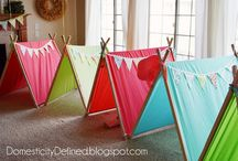 Glamping Party / Add a little glam to your camping party.