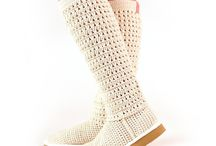 crochê sapatos